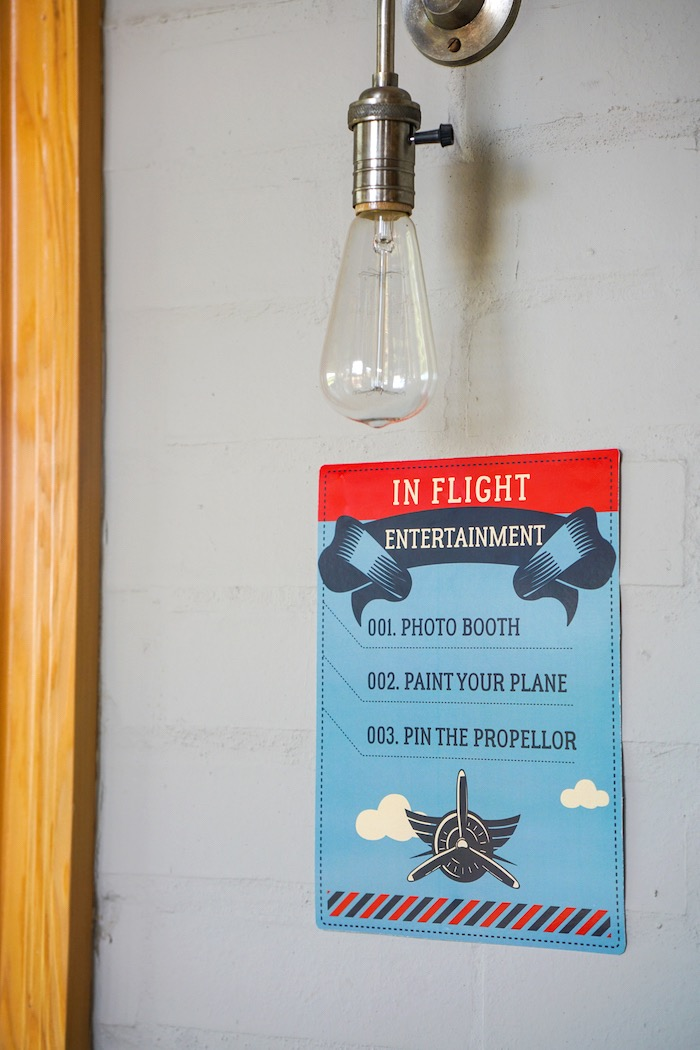 Signage from a Vintage Aviation + Travel Party on Kara's Party Ideas | KarasPartyIdeas.com (31)