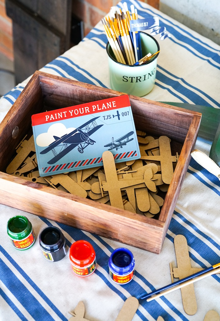 Paint Your Plane Activity from a Vintage Aviation + Travel Party on Kara's Party Ideas | KarasPartyIdeas.com (30)