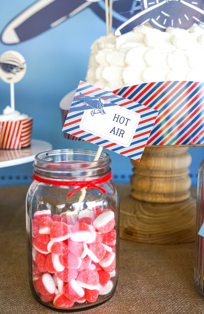 Hot Air Gummies from a Vintage Aviation + Travel Party on Kara's Party Ideas | KarasPartyIdeas.com (26)
