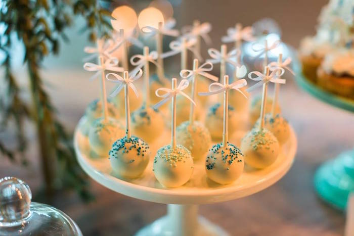 Cake pops from a Vintage Carousel Baptism Party on Kara's Party Ideas | KarasPartyIdeas.com (13)