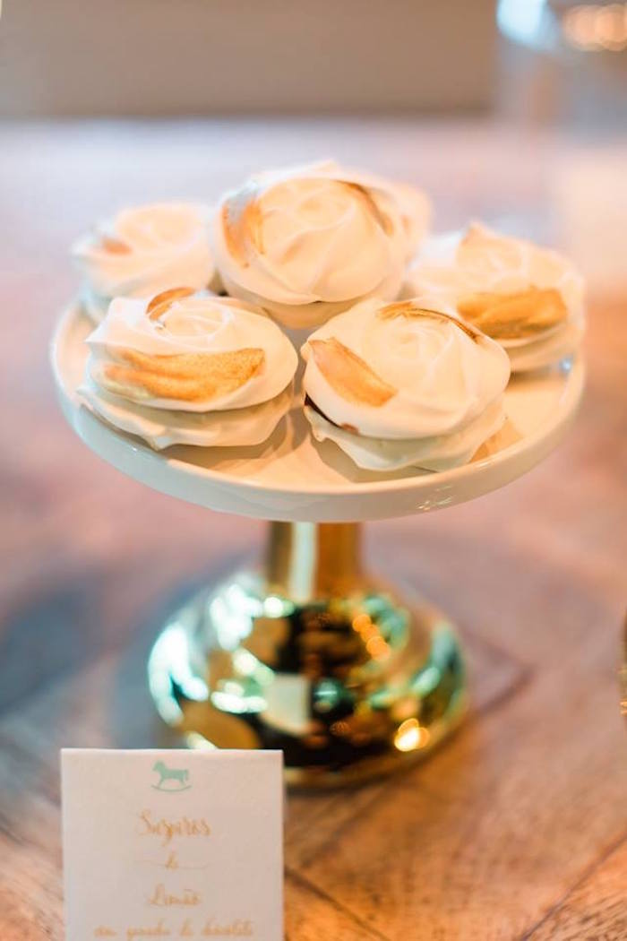 Meringue cookies from a Vintage Carousel Baptism Party on Kara's Party Ideas | KarasPartyIdeas.com (22)