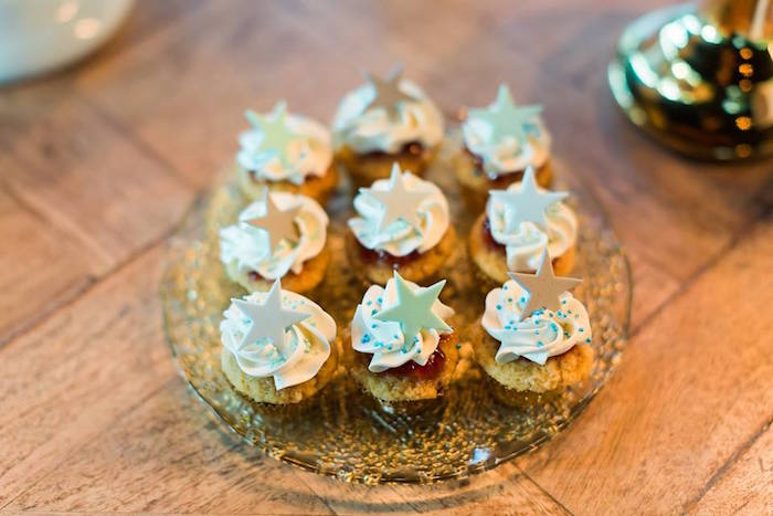 Star Cupcakes from a Vintage Carousel Baptism Party on Kara's Party Ideas | KarasPartyIdeas.com (16)