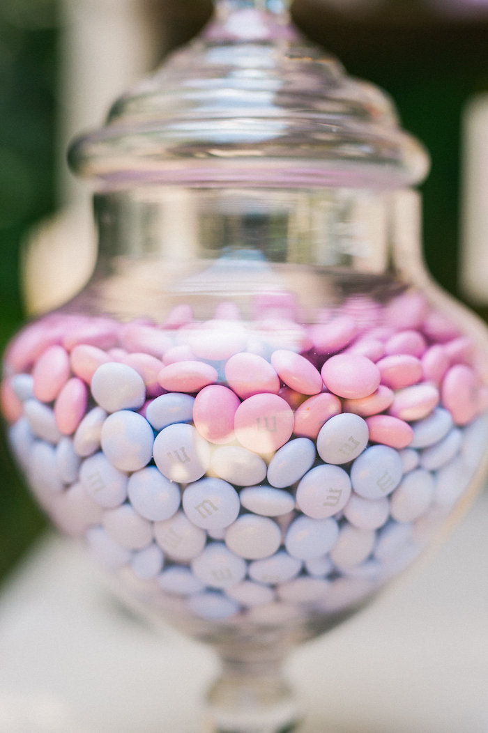 M&M's from a Whimsical Watercolor Elephant Birthday Party on Kara's Party Ideas | KarasPartyIdeas.com (13)