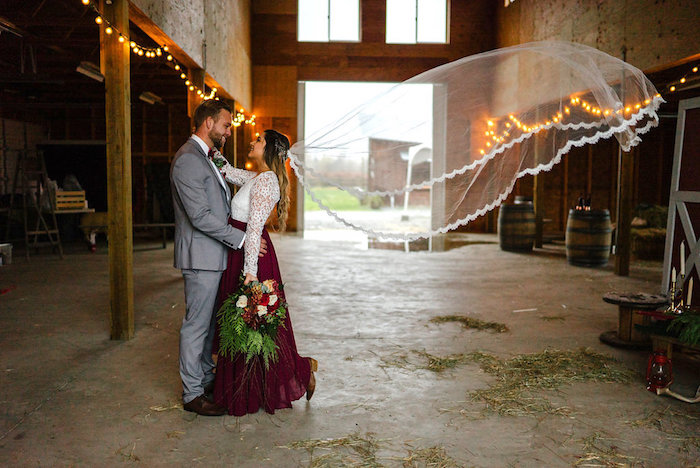 Winter Barn Wedding on Kara's Party Ideas | KarasPartyIdeas.com (35)