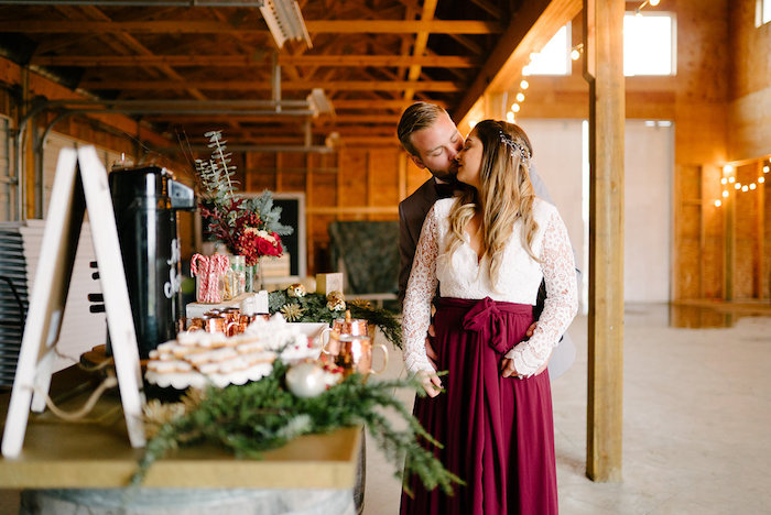 Hot Cocoa Bar from a Winter Barn Wedding on Kara's Party Ideas | KarasPartyIdeas.com (34)