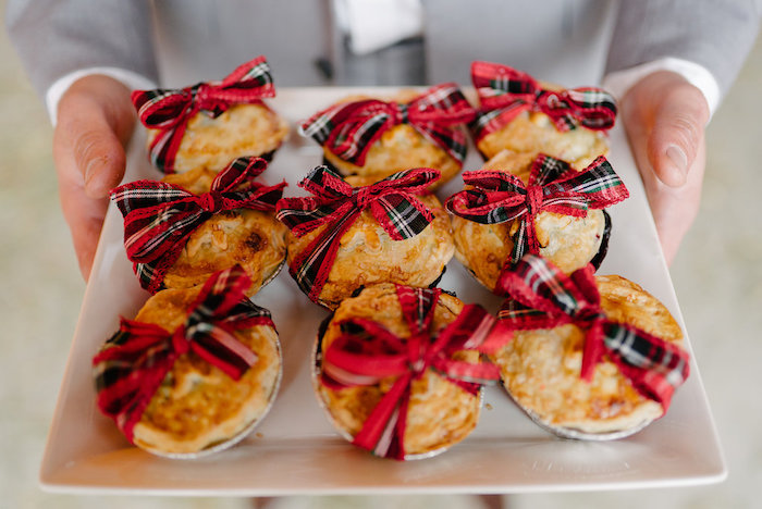 Mini pies from a Winter Barn Wedding on Kara's Party Ideas | KarasPartyIdeas.com (33)