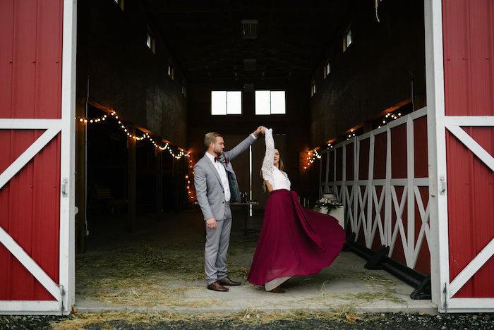 Winter Barn Wedding on Kara's Party Ideas | KarasPartyIdeas.com (30)