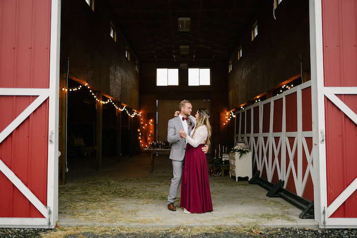 Winter Barn Wedding on Kara's Party Ideas | KarasPartyIdeas.com (29)