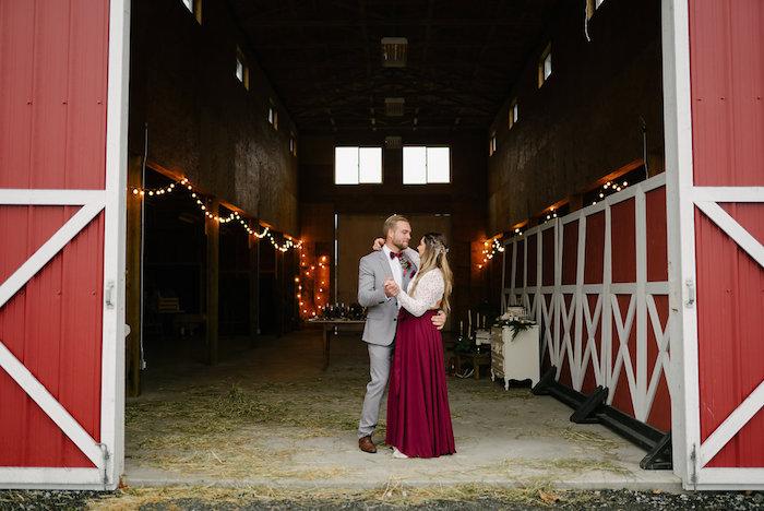 Winter Barn Wedding on Kara's Party Ideas | KarasPartyIdeas.com (29)