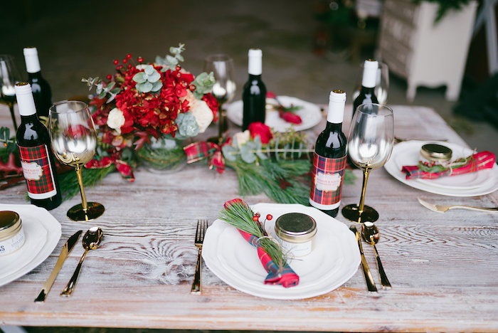 Guest table from a Winter Barn Wedding on Kara's Party Ideas | KarasPartyIdeas.com (23)