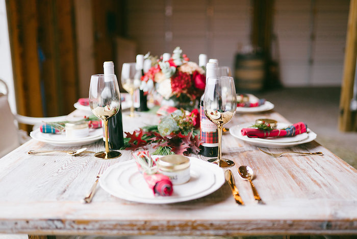 Guest table from a Winter Barn Wedding on Kara's Party Ideas | KarasPartyIdeas.com (20)