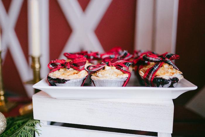 Mini pies from a Winter Barn Wedding on Kara's Party Ideas | KarasPartyIdeas.com (13)