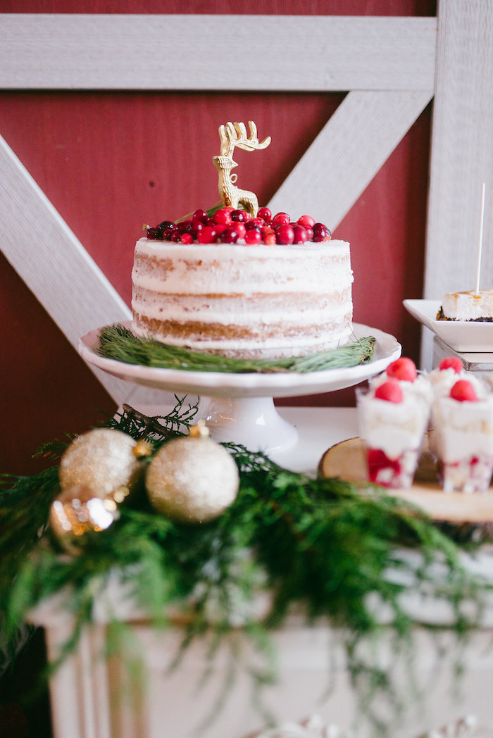 Cake from a Winter Barn Wedding on Kara's Party Ideas | KarasPartyIdeas.com (11)