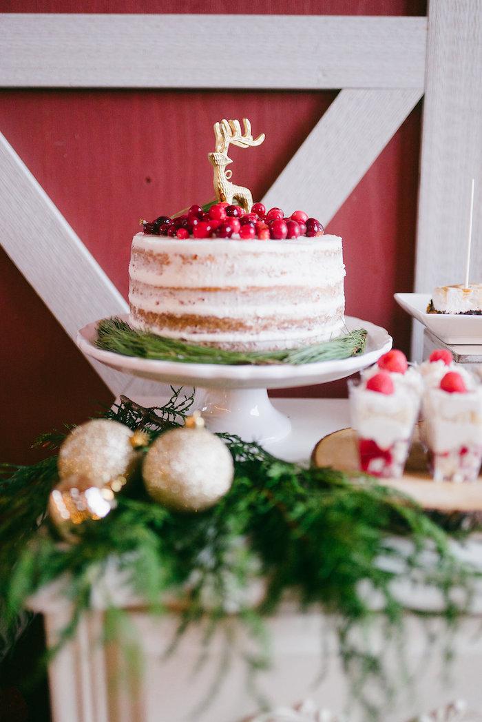 Cake from a Winter Barn Wedding on Kara's Party Ideas | KarasPartyIdeas.com (11)