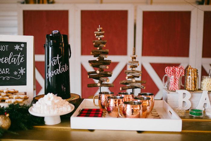 Hot Chocolate Bar from a Winter Barn Wedding on Kara's Party Ideas | KarasPartyIdeas.com (8)