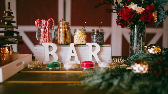 Hot Chocolate Bar from a Winter Barn Wedding on Kara's Party Ideas | KarasPartyIdeas.com (7)