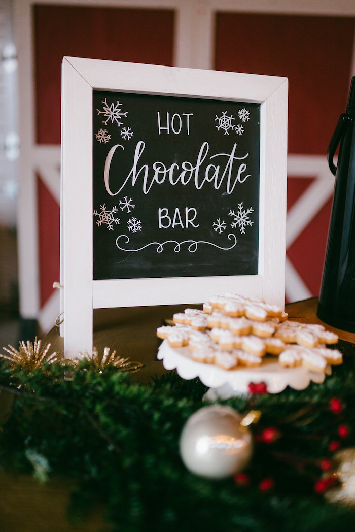 Hot Chocolate Bar from a Winter Barn Wedding on Kara's Party Ideas | KarasPartyIdeas.com (6)