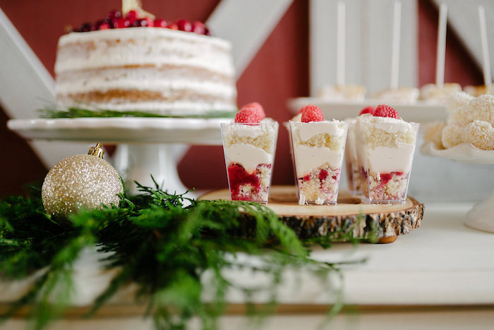 Dessert shooters from a Winter Barn Wedding on Kara's Party Ideas | KarasPartyIdeas.com (42)