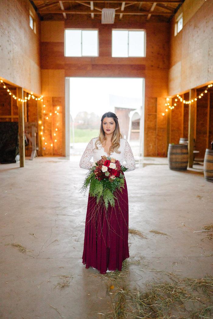 Winter Barn Wedding on Kara's Party Ideas | KarasPartyIdeas.com (38)