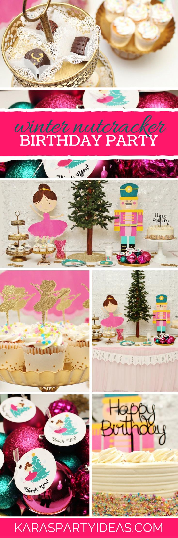 Winter Nutcracker Birthday Party via Kara's Party Ideas - KarasPartyIdeas.com