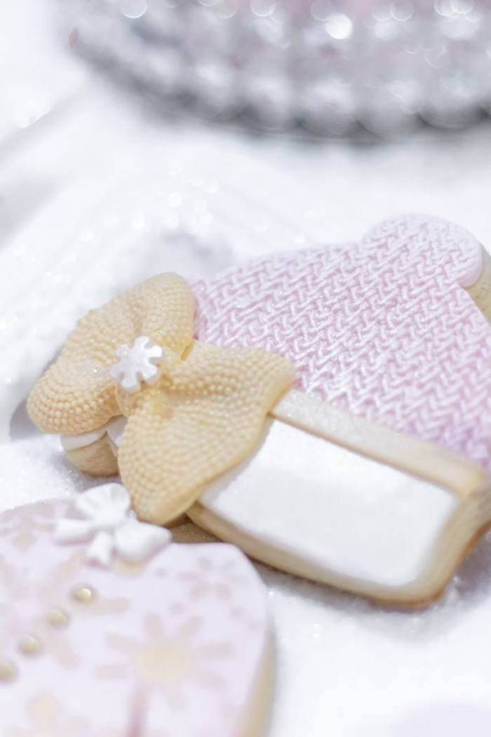 Baby beanie cookie from a Winter Wonderland Baby Shower on Kara's Party Ideas | KarasPartyIdeas.com (25)
