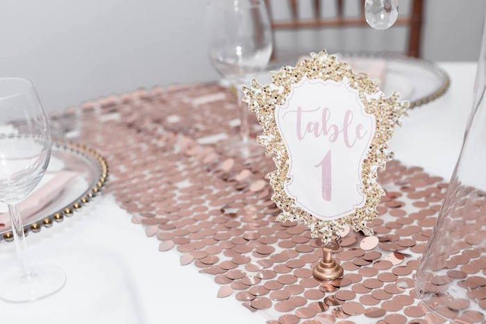 Guest table signage from a Winter Wonderland Baby Shower on Kara's Party Ideas | KarasPartyIdeas.com (10)