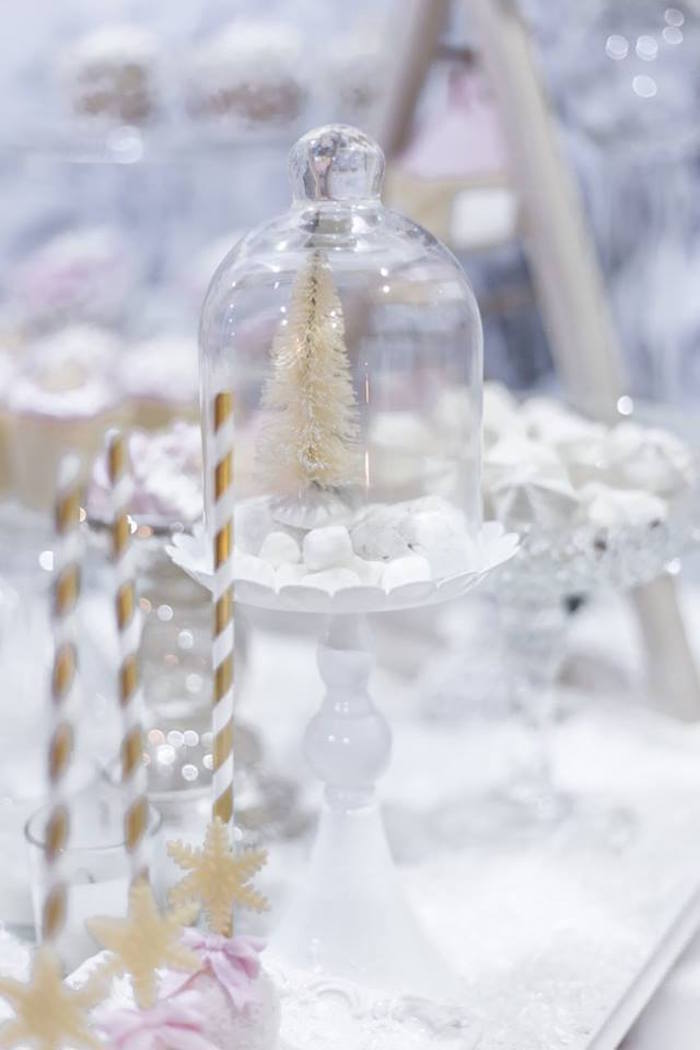 Winter tree dome from a Winter Wonderland Baby Shower on Kara's Party Ideas | KarasPartyIdeas.com (7)