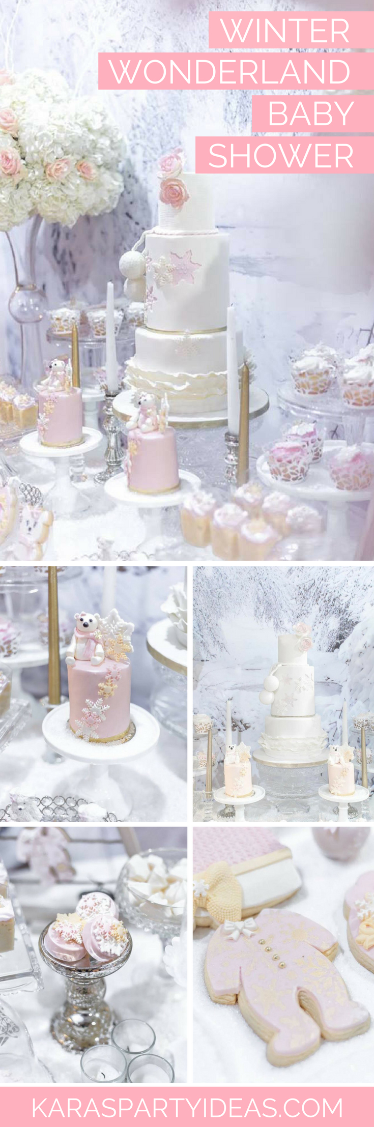 Winter Wonderland Baby Shower via Kara's Party Ideas - KarasPartyIdeas.com