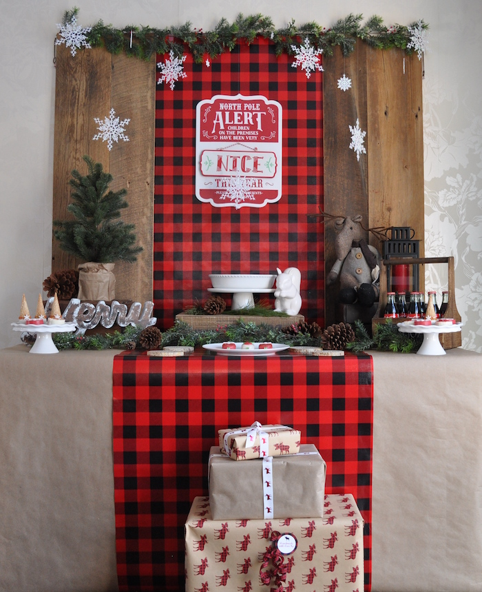 Woodland Plaid Santa's Workshop Party on Kara's Party Ideas | KarasPartyIdeas.com (13)