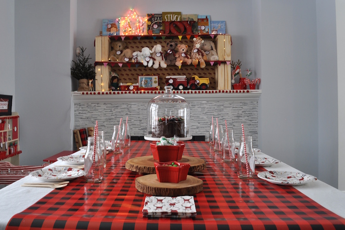 Woodland Plaid Santa's Workshop Party on Kara's Party Ideas | KarasPartyIdeas.com (25)