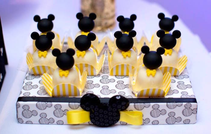 Desserts from a Yellow & Gold Mickey Mouse Birthday Party on Kara's Party Ideas | KarasPartyIdeas.com (24)