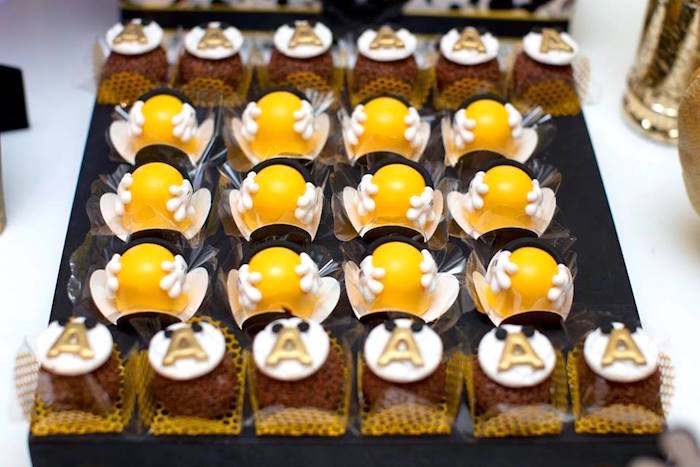 Desserts from a Yellow & Gold Mickey Mouse Birthday Party on Kara's Party Ideas | KarasPartyIdeas.com (23)