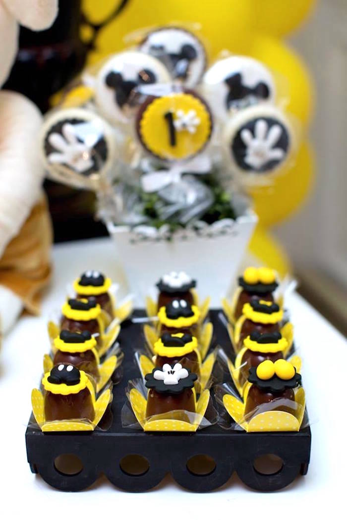 Desserts from a Yellow & Gold Mickey Mouse Birthday Party on Kara's Party Ideas | KarasPartyIdeas.com (22)
