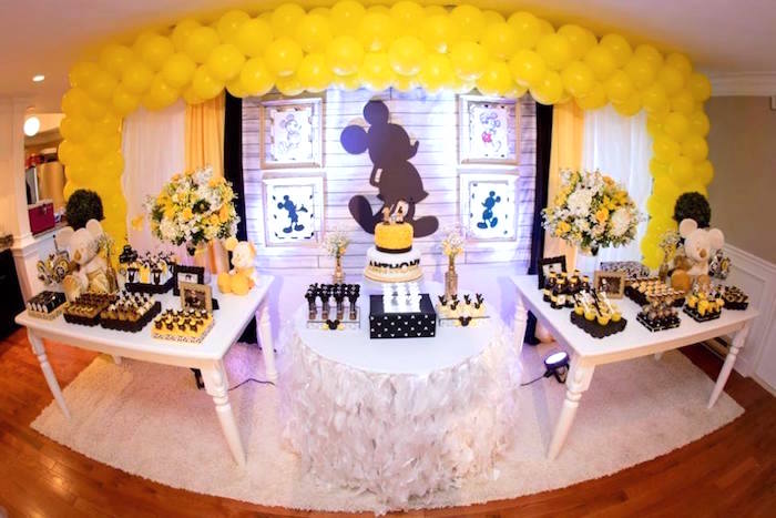 Yellow & Gold Mickey Mouse Birthday Party on Kara's Party Ideas | KarasPartyIdeas.com (17)