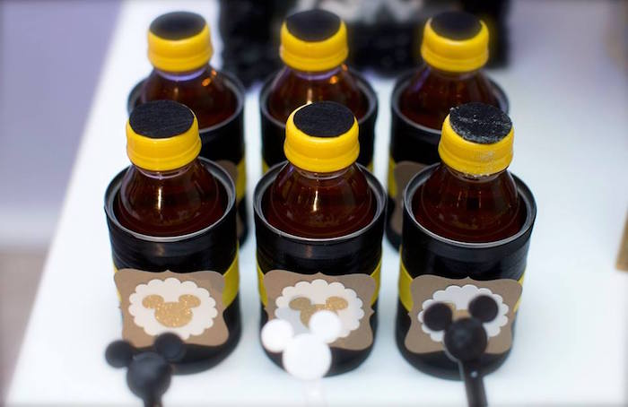 Favors from a Yellow & Gold Mickey Mouse Birthday Party on Kara's Party Ideas | KarasPartyIdeas.com (12)
