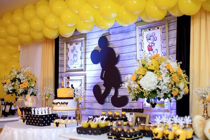 Yellow & Gold Mickey Mouse Birthday Party on Kara's Party Ideas | KarasPartyIdeas.com (9)