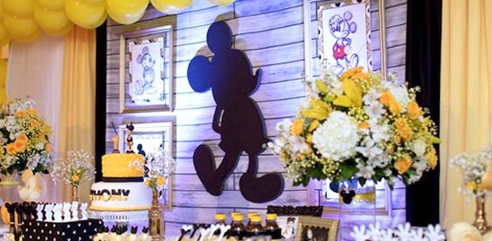 Yellow & Gold Mickey Mouse Birthday Party on Kara's Party Ideas | KarasPartyIdeas.com (3)