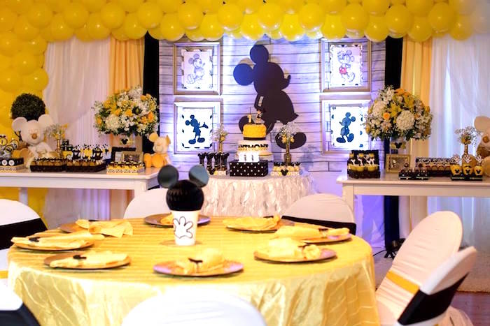 Yellow & Gold Mickey Mouse Birthday Party on Kara's Party Ideas | KarasPartyIdeas.com (32)