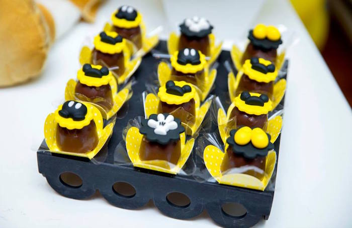 Desserts from a Yellow & Gold Mickey Mouse Birthday Party on Kara's Party Ideas | KarasPartyIdeas.com (27)