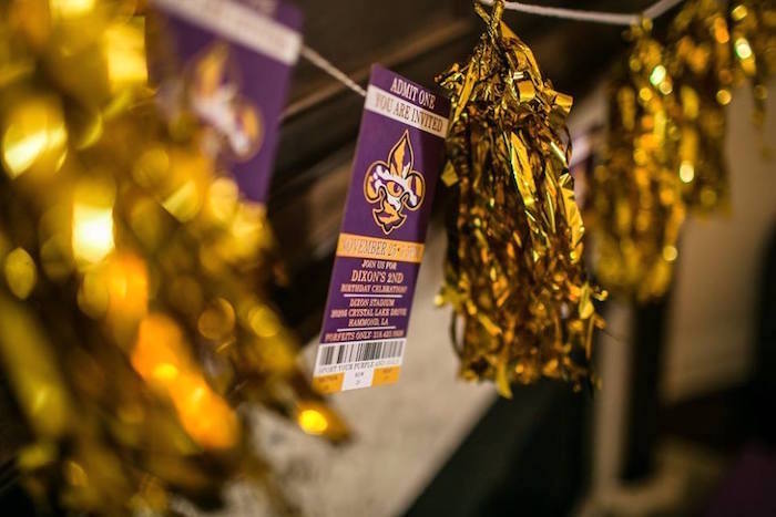 Ticket banner from a LSU Football Party on Kara's Party Ideas   KarasPartyIdeas.com (20)