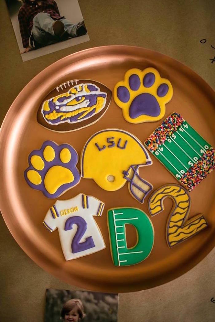 Cookies from a LSU Football Party on Kara's Party Ideas   KarasPartyIdeas.com (19)