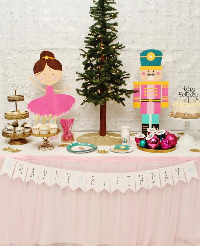 Winter Nutcracker Birthday Party on Kara's Party Ideas | KarasPartyIdeas.com