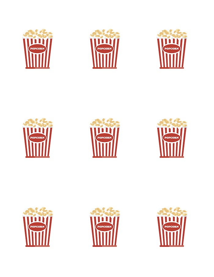 photograph regarding Popcorn Printable named Karas Social gathering Tips Online video Evening Occasion with No cost Printables