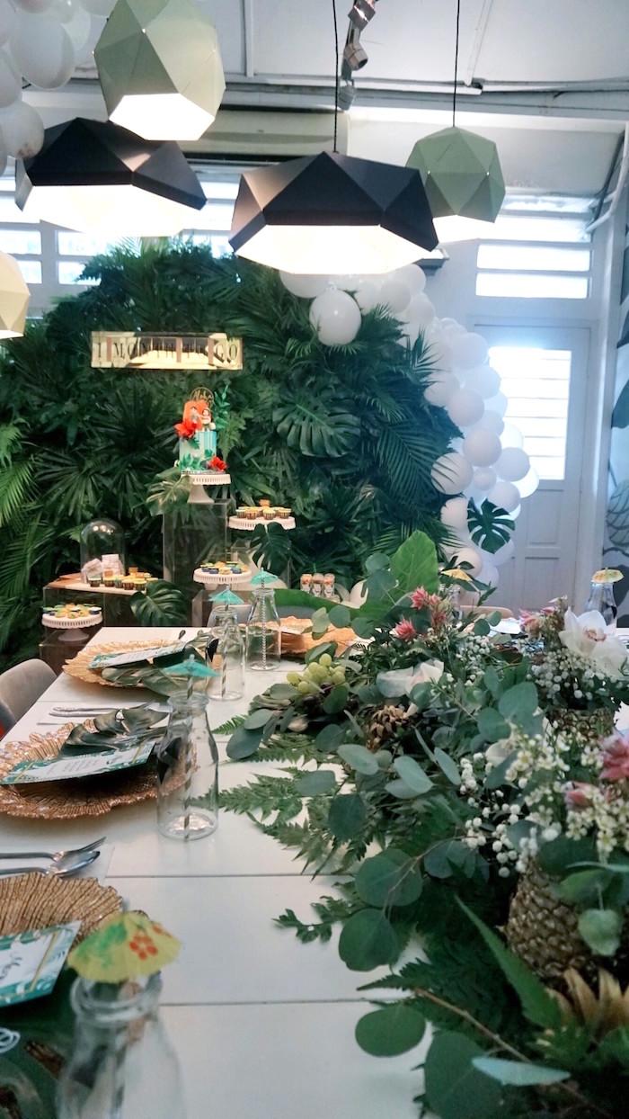 Kara\'s Party Ideas Tropical Jungle Baby Shower | Kara\'s Party Ideas