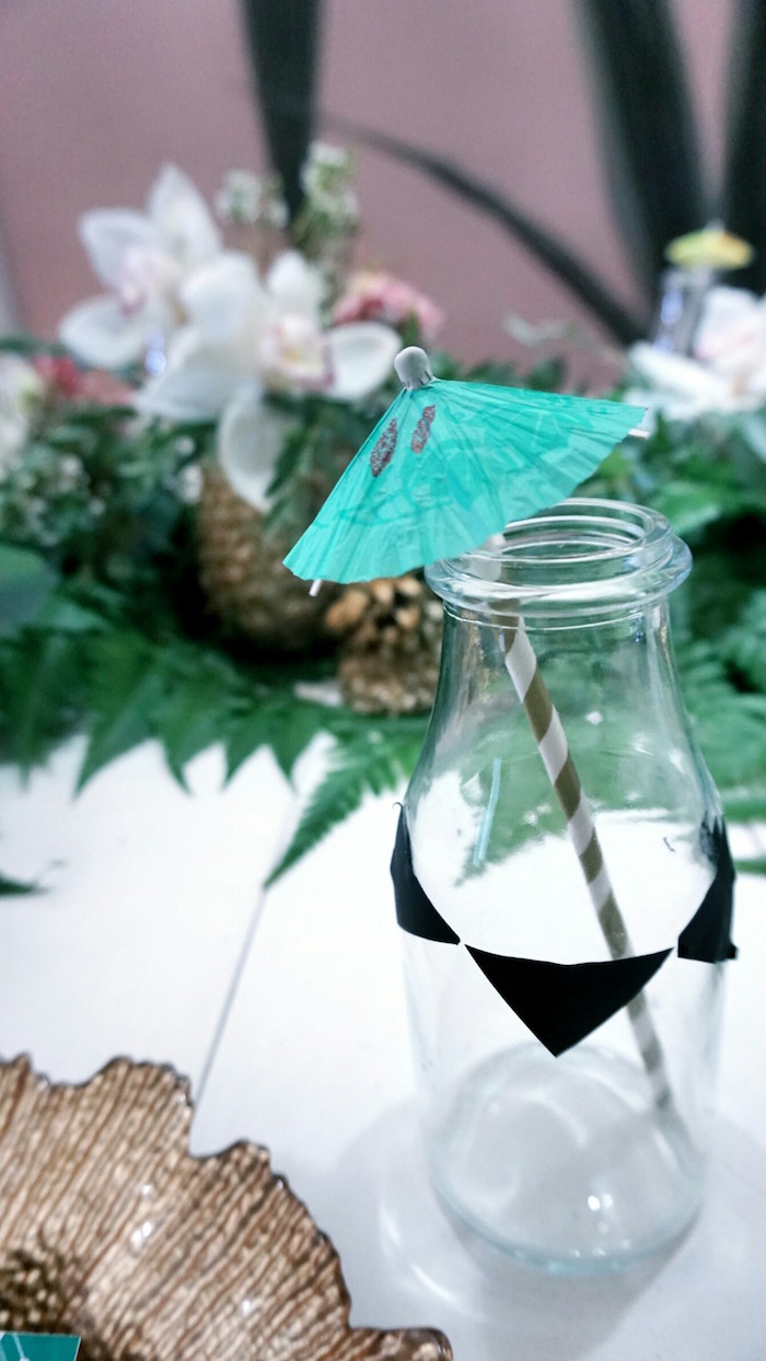 Drink bottle from a Tropical Jungle Baby Shower on Kara's Party Ideas | KarasPartyIdeas.com (14)