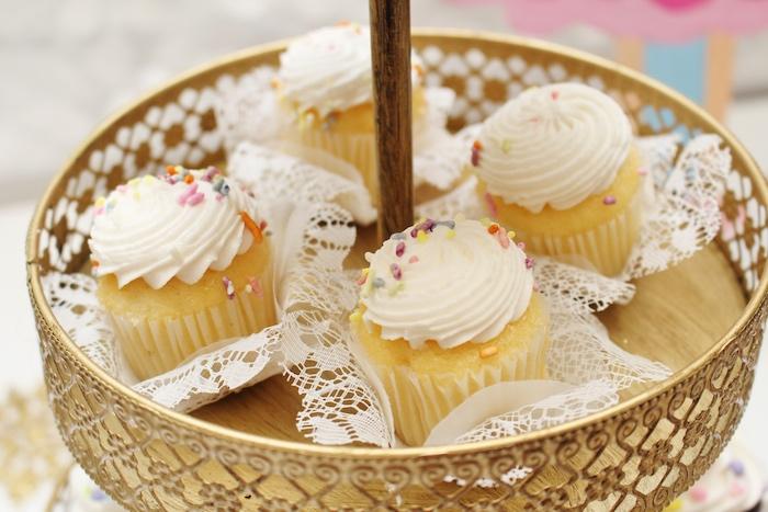 Cupcakes from a Winter Nutcracker Birthday Party on Kara's Party Ideas | KarasPartyIdeas.com