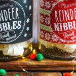 FREE Printable Christmas Cookie Jar Labels on Kara's Party Ideas | KarasPartyIdeas.com