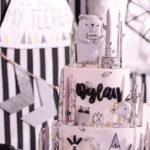 Minimalist Monochromatic Scandinavian Camping Party via Kara's Party Ideas | KarasPartyIdeas.com