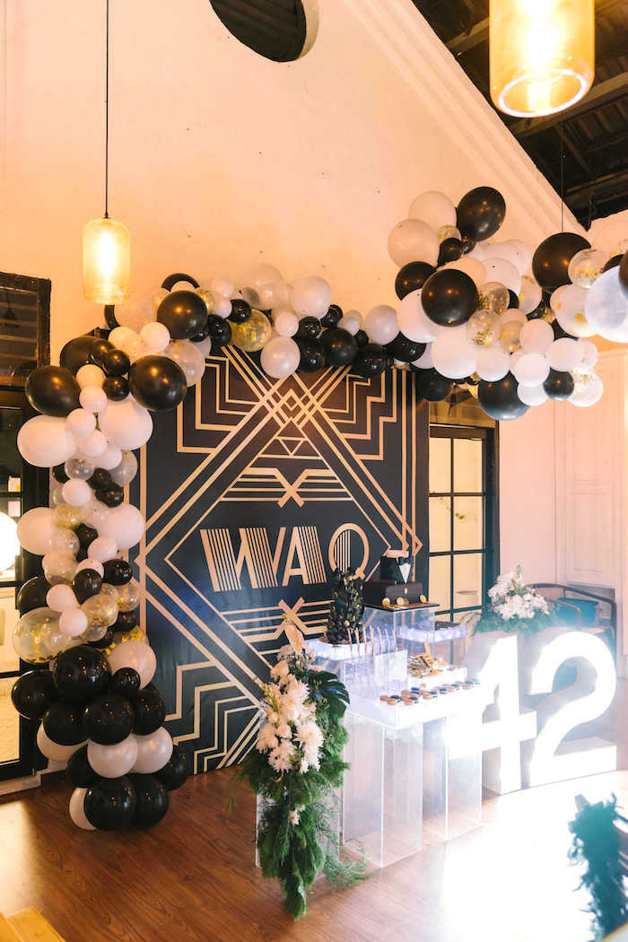 Dessert spread from a 1920's Gangster Inspired Birthday Party on Kara's Party Ideas | KarasPartyIdeas.com (3)