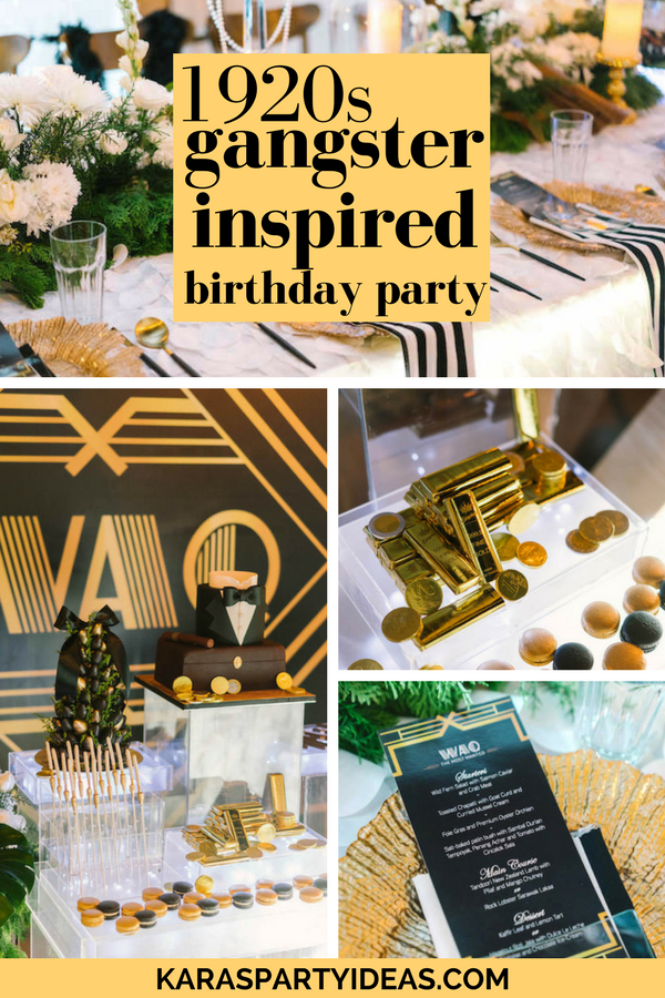 1920s Gangster Inspired Birthday Party via Kara's Party Ideas - KarasPartyIdeas.com